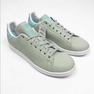 Adidas Stan Smith Mint Silver Leather Sneaker Shoe